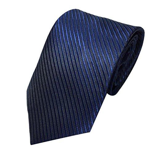 Herren Krawatten SOMESUN Mens-klassischer Jacquardwebstuhl gesponnene gestreifte Krawatte Bindungs Party Hochzeits Krawatte (marine)