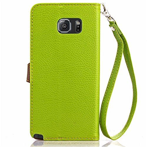"""MOONBAY MALL Leaf Button Pattern Premium Housse en PU Cuir Portefeuille Etui Housse Flip Case pour Apple iPhone 6 Plus / iPhone 6S Plus (5.5"""" inch) avec fonction de support - Stylet & film de protecti F031"""
