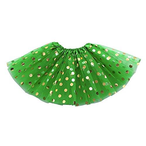 Asymmetrischer Turnanzug (MAYOGO Kinder Tüllrock 50er Kurz Tutu Ballet Tanzkleid Blumenmuster Unterkleid Cosplay Crinoline Petticoat für Rockabilly Kleid Karneval Party Rock)