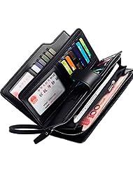 bureze negocios PU embrague bolsa 21titulares de la tarjeta moneda bolsa bolsa de teléfono para hombres