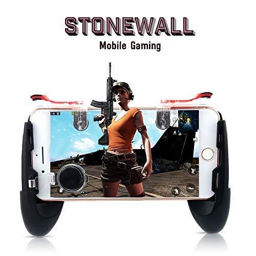 Mobile Gamecontroller Sensitive Shoot and Aim Fire Buttons L1R1 Trigger, Mobile Grip Joystick Set für Fortnite/PUBG/Messer Out/Regeln des Survival