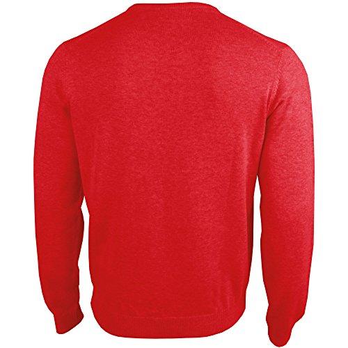 hemmy Herrenpullover uni, modsicher und zeitloser Basic Pullover mit Rundhals sowie in vielen verschiedenen Farben und Größen verfügbar rot - karminrot - uni
