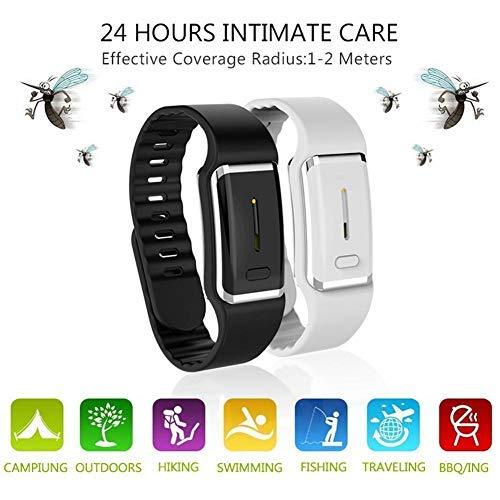 Goglor Bracelet Ultrasonique Anti-Moustique, Bande Réutilisable De Bracelet Répulsif De Moustique électronique avec Câble USB, pour Adultes Et Enfants Intérieur Extérieur