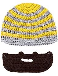 MagiDeal Bonnet Barbe Détachable Ski Hiver Chapeau du Vent Plein Air Crochet Tricoté