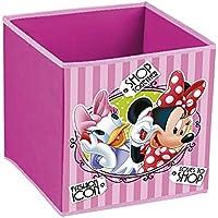 Disney Minnie Mouse - Cubo contenedor pongotodo guarda juguetes