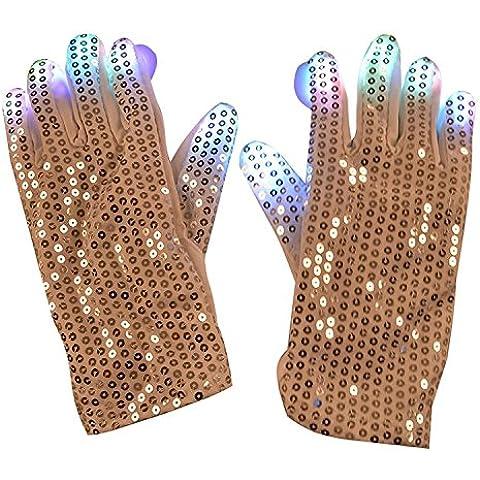 KKwell Halloween Glow Gloves LED Sequin Cool Dance