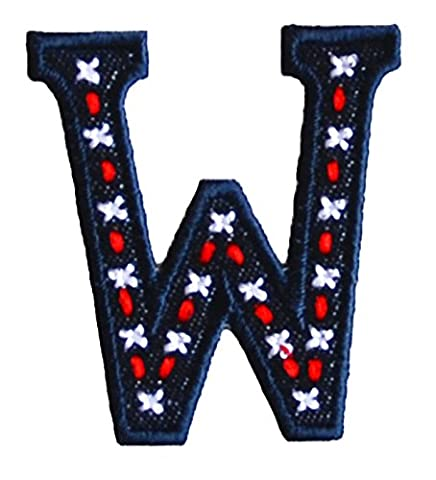 W denim Blue ABC letter 9cm big for names crafts jeans clothing fabric to iron on scarf bunting bag hat door hat skirt dresses cap jacket neckerchief ceiling flag pants plate backpack trousers cushion to personalise gifts for decorating wall personalise idea idea iron on patches creative craft sew on birth decorating toddler motifs sewing gift room children idea clothes kids birthday hobby fabric child letters diy nursery christening arts personally boy embroidered sports football baby