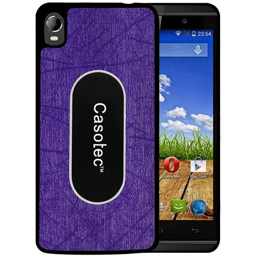 Casotec Metal Back TPU Back Case Cover for Micromax Canvas Fire A104 - Purple  available at amazon for Rs.149