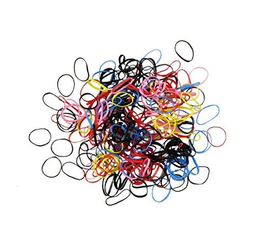 Produktbild Tonsee 500pcs/viel Gummi Haarreifen mit Seil Pferdeschwanz Inhaber elastische Haare Band Ties Braids