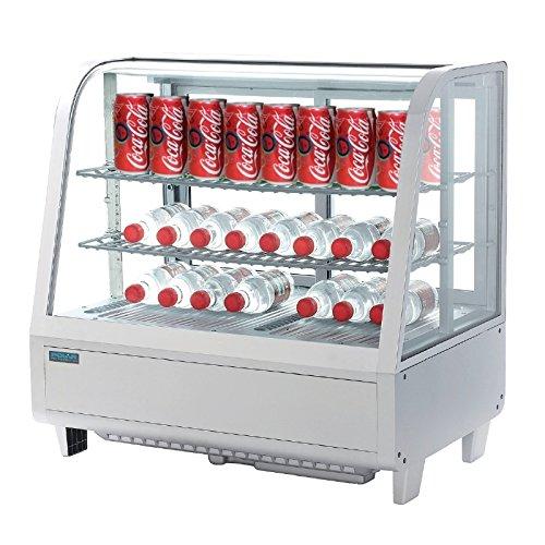 Kühlvitrine Kuchenvitrine weiß Tischmiodell 100L