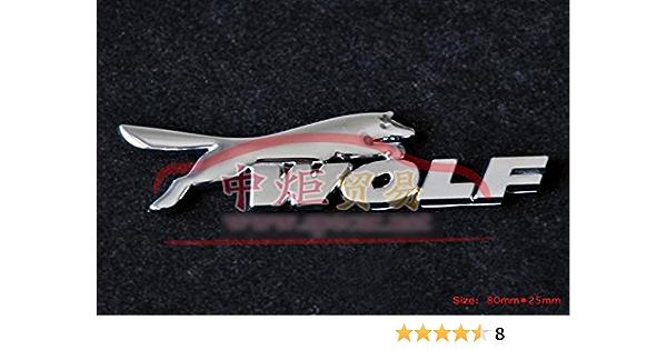 D143 Wolf Auto Aufkleber 3d Emblem Badge Top Plakette Abzeichen Car Sticker Abziehbild Auto