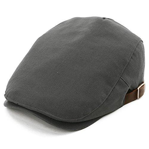 SIGGI Herren Flatcaps Schirmmütze Schiebermütze 57-59CM Sommer Dunkelgrau