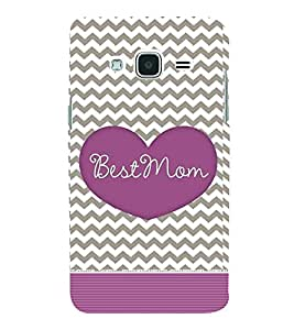 Fiobs Designer Back Case Cover for Samsung Galaxy J3 (6) 2016 :: Samsung Galaxy J3 2016 Duos :: Samsung Galaxy J3 2016 J320F J320A J320P J3109 J320M J320Y (Grey Zigzag Pattern Mother Quote)