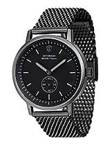 DETOMASO Herren-Armbanduhr Milano CLASSIC BLACK Analog Quarz DT1072-I