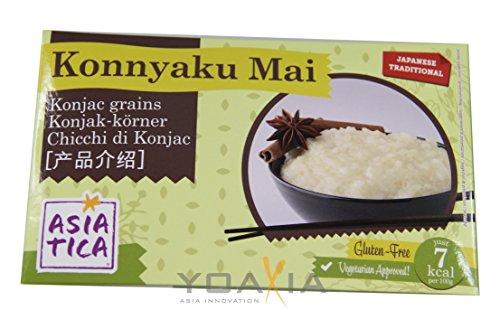 Asiatica - Shirataki Konjak Körner (Reis) - 12er Pack (12 x 300g/ATG 200g) - 1 Karton