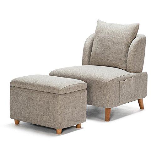 Rezeption Sitzgelegenheiten (Hocker MAZHONG Bettwäsche Leinen Sofa Sitzgelegenheiten Speisesaal Esszimmer Wohnzimmer Schlafzimmer Lounge Empfang (Farbe) (Farbe : Natural - Gray))