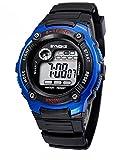 Wasserabweisende, digitale, elektronische, sportliche Outdoor-Armbanduhr im Militärlook, für Alter: 7–15Jahre, blau
