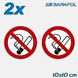 2x Rauchen verboten Aufkleber Ø 10 cm Nr.127 Rauchverbot No Smoking Sticker Hinweisaufkleber