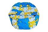 Baby Liegekissen / Lagerungskissen, auch als Sitzsack für Kinder geeignet, die Alternative zur Babywippe & Babyliege, Farbe / Motiv: Giraffenmuster (Giraffen blau)