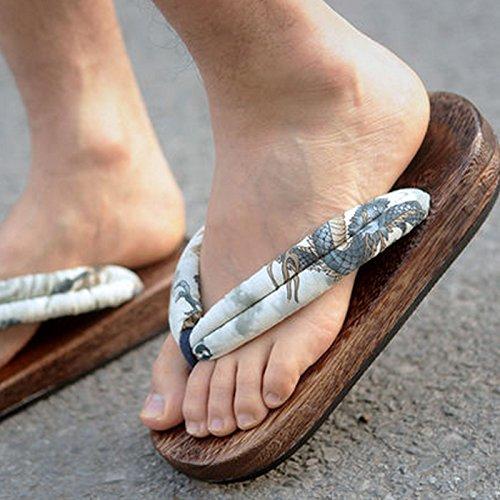 CHNHIRA Damen Herren Sommer Keilabsatz Schuhe Pantoffeln Sandale Weiß