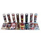 Demon Killer 18650 Battery Dunkle Serie Wraps PVC Schrumpfschlauch authentische vorgeschnittene Bateriehülse, Replacement Batterie Schrumpfen Sleeves, 8 Styles Cover Skin, 24 Stück