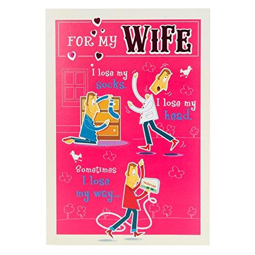 """Hallmark Glückwunschkarte zum Hochzeitstag für Frau """"Nie verlieren My Love–Medium"""
