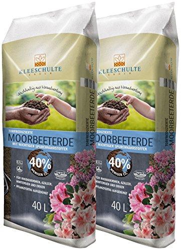 Floragard Kleeschulte Moorbeeterde 2x40 L • 40% Klimavorteil • 80 L