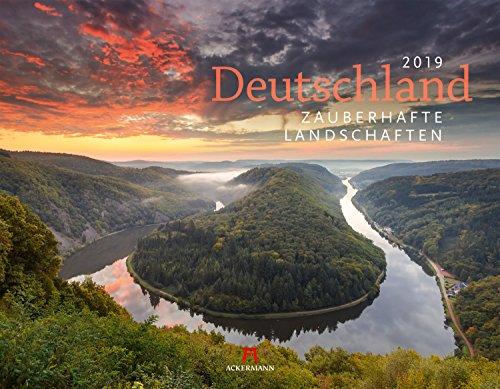 Deutschland - Zauberhafte Landschaften 2019, Wandkalender im Querformat (54x42 cm) - Landschaftskalender / Naturkalender mit Monatskalendarium