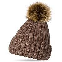 Amazon.it  cappello lana con pon pon - Marrone  Sport e tempo libero b6321380cd03
