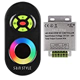 FUT-042 433M LED IR/RF LED RGB Strip Controller mit Fernbedienung Touch-Funktion 12V *Schwarz*