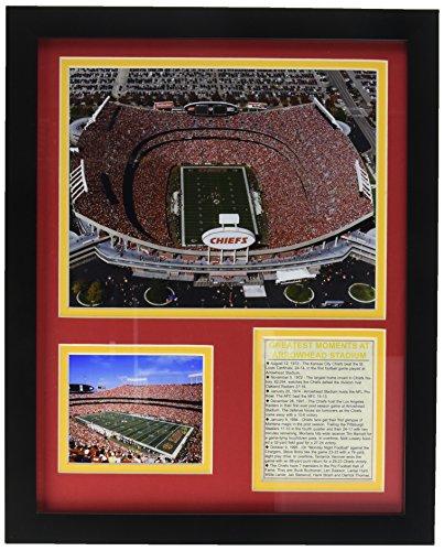 Legends Never Die Gerahmtes Fotocollage Kansas City Chiefs Arrowhead Stadion, 27,9 x 35,6 cm