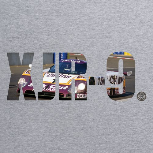 PistonHeads XJR-9 T-Shirt, Herren Grau Meliert