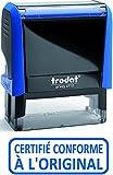 TAMPON CERTIFIE CONFORME A L'ORIGINAL Trodat X-Print - Encrage bleu