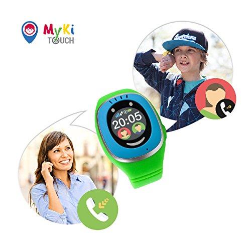 MyKi GPS Uhr Kinder, Smartwatch mit GPS Tracker, Handy Ortung, SOS und App Tracking in Deutsch (Blau) - 4
