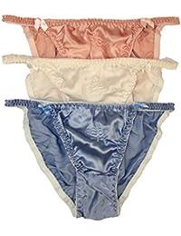 79c8e9f20d17 Paradise Silk Women's Silk String Bikini 3 Pairs in One Economic Pack Size  S M L XL XXL