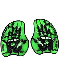 Arena  Vortex  Palette a mano per nuoto, Verde Acido/Nero,  M