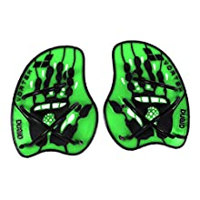 Arena Unisex's Vortex Evolution Hand Paddle-Acid Lime, Large, Black