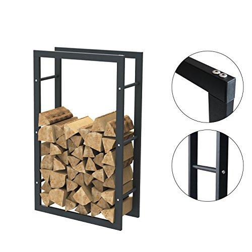 Brennholzregal Kaminholzständer Kaminholzregal Feuerholzregal Kaminholzhalter Brennholz 60 x 100 x 25 cm (Breite x Höhe x Tiefe) 38000.1