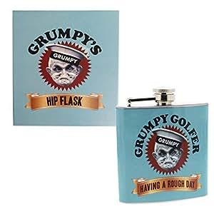Herren Grumpy Old Gits Golfer Flachmann Pocket Srew Cap Golf Toddy Alkohol zu trinken