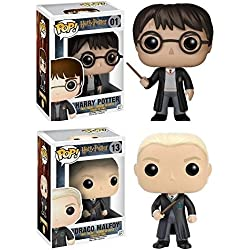 Funko POP! Harry Potter: Harry Potter + Draco Malfoy con el uniforme de Hogwarts