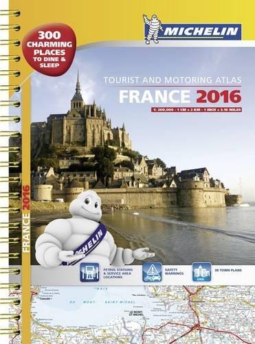 France 2016 tourist and motoring atlas - A3 spiral (Tourist & Motoring Atlases) par Michelin