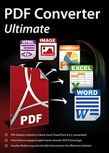 PDF Converter Ultimate - PDFs umwandeln und bearbeiten in Word, Excel, PowerPoint & Co. für Windows 10 / 8.1/ 8 / 7