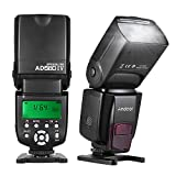 Andoer AD560 IV 2.4G Wireless On-camera Slave Speedlite Flash Light GN50 con LCD Display Per Canon Nikon Olympus Pentax e Sony A7/ A7 II/ A7S/ A7R/ A7S II DSLR immagine