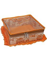 SuiDhaga Jama Wooden Makeup Kit Royal Square (Dimension: 25*25*11 CM)