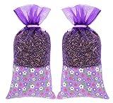 The Lavender Collection 2 Säckchen von 20 Gramm AC-045 100% Natürlicher Französischer Lavendel Duft Mottel Beutel für Schrank Kommode – Ungiftig und Keine Zusatzstoffe