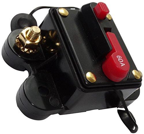 Preisvergleich Produktbild AERZETIX: 60A 12V 24V 32V 48V automatische Sicherung Brecher 78x52x37mm IP67 amp Auto Auto-Verstärker C14612