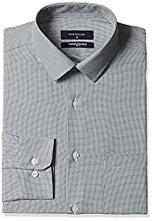 Peter England Mens Formal Shirt (8907609119138_PSF61600536_39_WhiteWithBlack)