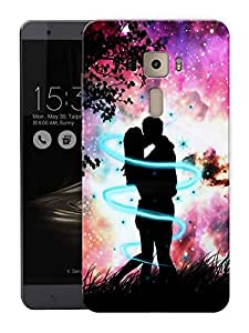 "Humor Gang Love All Around Couple Printed Designer Mobile Back Cover For ""Asus Zenfone 3 Deluxe"" (3D, Matte Finish, Premium Quality, Protective Snap On Slim Hard Phone Case, Multi Color)"