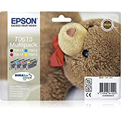 Epson multipack T06154colores (Etiqueta RF)–Cartouche d'encre pour imprimantes (Noir, Cyan, Magenta, Jaune, Jet d'Encre, 385mm, 202mm, 151mm, 164g)