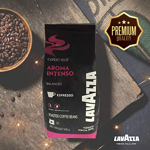 LAVAZZA Aroma Intenso Expert Plus Roasted Coffee Beans 500g